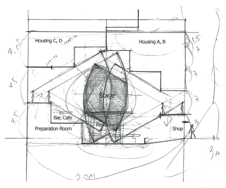 202_3 Intertwined Dwelling section sketch yereempark