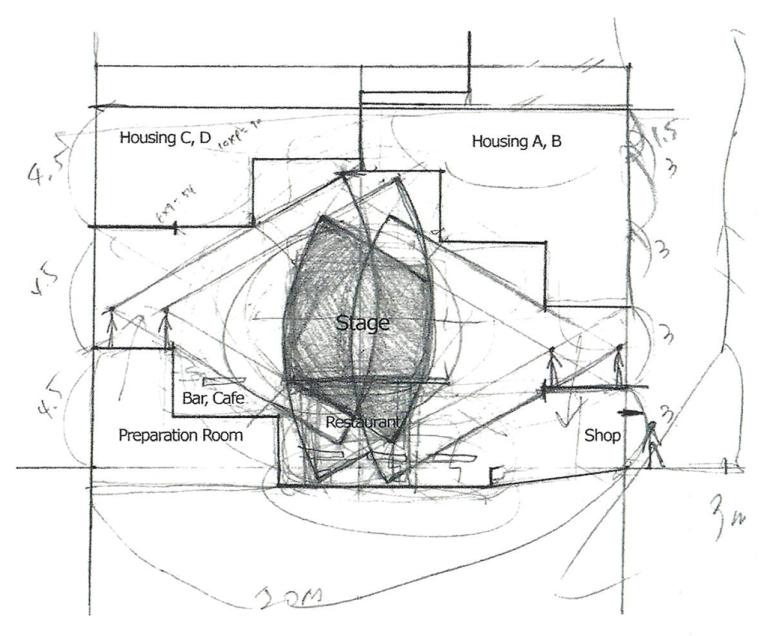 202_3 Intertwined Dwelling section sketch yereempark