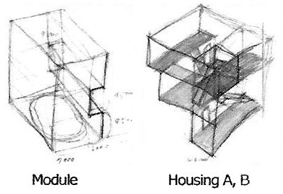 202_3 Intertwined Dwelling sketch 2 yereempark